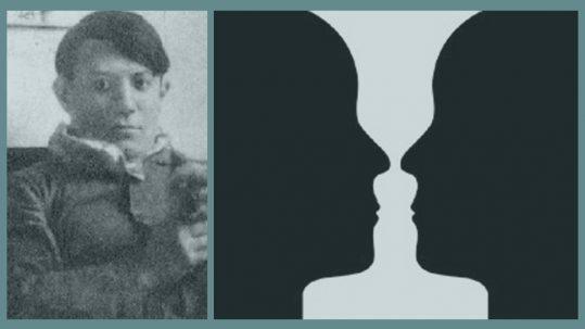 Jarrón de Rubin, ilusión óptica donde se pueden ver un jarrón o dos caras.